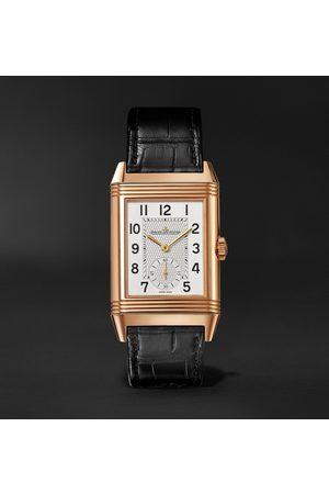 Jaeger-LeCoultre Uomo Orologi - Reverso Classic Large Duoface Small Seconds Automatic 28.3mm 18-Karat Rose Gold and Alligator Watch