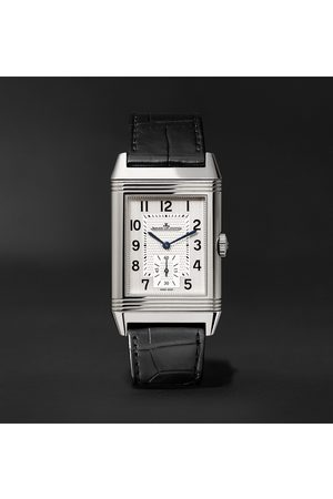 Jaeger-LeCoultre Uomo Orologi - Reverso Classic Large Hand-Wound 27.4mm Stainless Steel and Alligator Watch