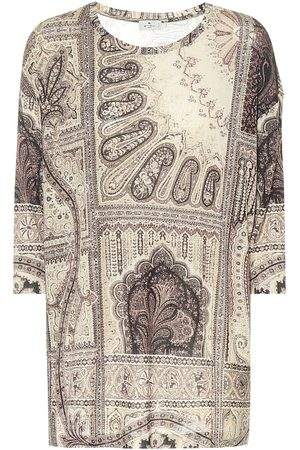 Etro Top a stampa in jersey