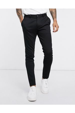 Jack & Jones Intelligence - Pantaloni slim in jersey neri