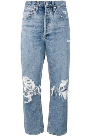 AGOLDE Donna Boyfriend jeans - Jeans Mom effetto vissuto