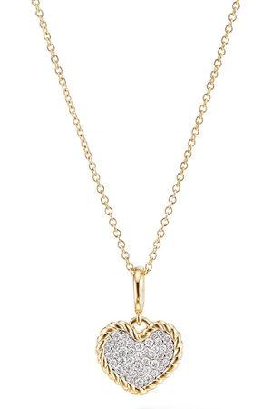 David Yurman Collana con ciondolo in oro 18kt e diamanti - D88ADI