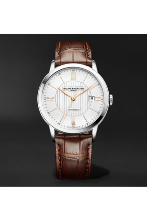 Baume & Mercier Uomo Orologi - Classima Automatic 40mm Stainless Steel and Alligator Watch, Ref. No. M0A10263