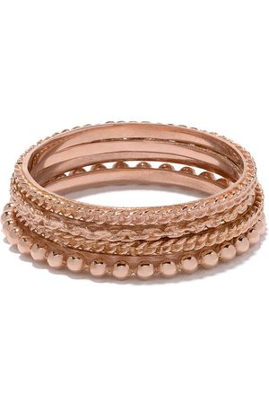 WOUTERS & HENDRIX Set quattro anelli in 18kt - PINK GOLD