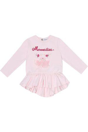MONNALISA Baby - Top in cotone con ricamo