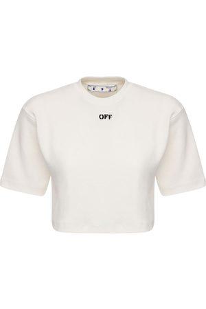 OFF-WHITE T-shirt In Jersey Di Misto Cotone