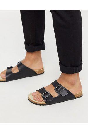 ASOS DESIGN Sandali neri con fibbia