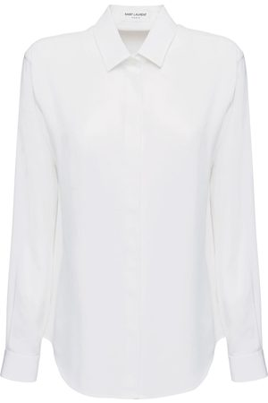 Saint Laurent Camicia In Seta Crepe De Chine