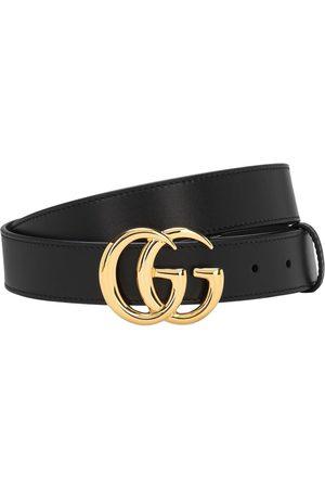"""Gucci Uomo Cinture - Cintura """"gg"""" In Pelle 30mm"""