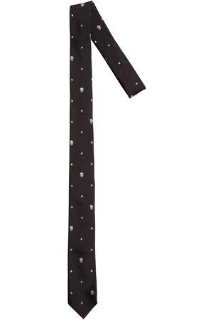 Alexander McQueen Uomo Cravatte - Cravatta In Seta Con Ricami 5cm
