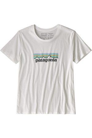 Patagonia Pastel P-6 Logo Organic Crew - T-shirt - donna. Taglia XS