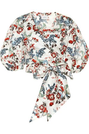 Erdem Donna Top - Top Cylenne a stampa in cotone