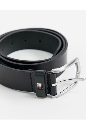 Tommy Hilfiger New Denton - Cintura nera in pelle 3,5 cm