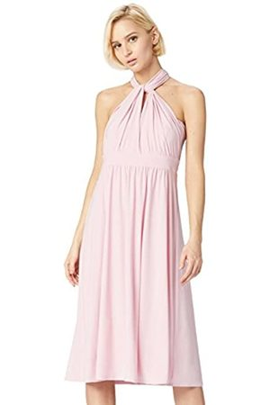 TRUTH & FABLE Marchio Amazon - Vestito Midi Halter Donna, , 50, Label: XXL