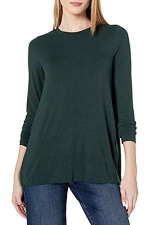 Daily Ritual Long-Sleeve Split-Hem Tunic Shirts, Muschio, US