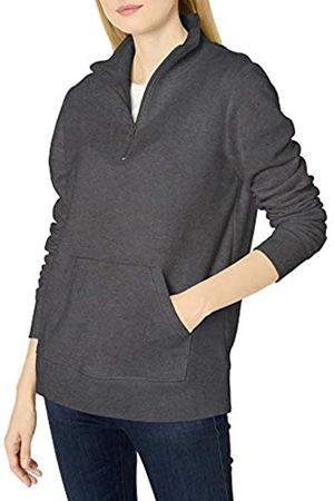 Amazon Maglia a Maniche Lunghe Leggera in Spugna Francese con Zip Fashion-Sweatshirts, Carbone, US XL