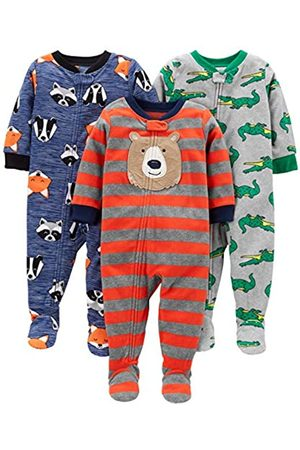 Simple Joys by Carter's Baby and Toddler - Pigiama in pile con piedini ,Bear/Alligator/Fox/Racoon ,12 Months