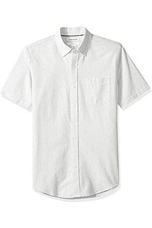 Amazon Essentials Uomo Casual - Slim-Fit Short-Sleeve Stripe Pocket Oxford Camicia, , US S