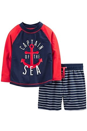 Simple Joys by Carter's Costume da bagno per bambini e neonati, 2 pezzi ,Red and Blue Anchor ,12 Months
