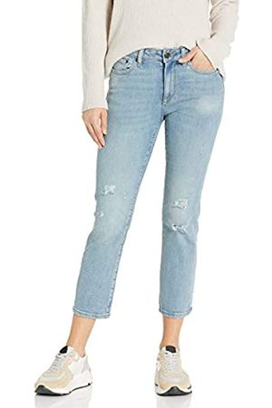 Goodthreads Mid-Rise Crop Straight Jeans, Vintage Destructed, 30