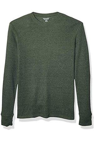 Amazon Essentials Regular-Fit Long-Sleeve Waffle Shirt Athletic-Shirts, Olive Heather, US L