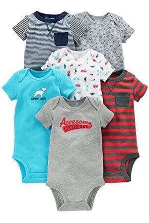 Simple Joys by Carter's Baby - Body a maniche corte, confezione da 6 ,Navy/Red ,Newborn