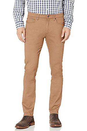 Amazon Skinny-Fit 5-Pocket Stretch Twill Pant Casual-Pants, Dark Khaki, 35W x 29L
