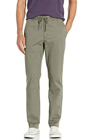 """Goodthreads Uomo Chinos - Straight-Fit Washed Chino Drawstring Pant Casual-Pants, Fatigue, X-Large/28"""" Inseam"""
