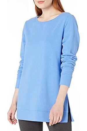 Amazon Tunica in Spugna Scollo Aperto Shirts, mélange Blu Francese, US M