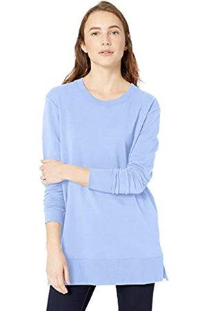 Daily Ritual Spugna di Cotone e Modal Ventilazione Laterale Tunica Shirts, Lago, US S