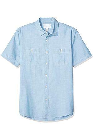 Amazon Camicia da uomo a maniche corte in chambray, aderente, Sneakers basse di tela Chuck Taylor All Star Seasonal, US S