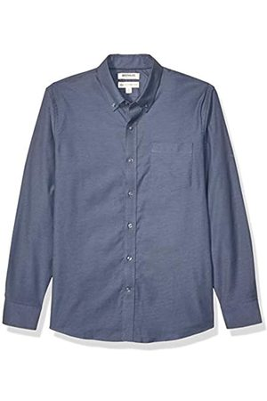 Goodthreads Standard-Fit Long-Sleeve Stretch Oxford Shirt Camicia Che Si abbottona, Denim Blue, XS