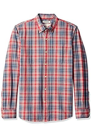 Goodthreads Slim-Fit Long-Sleeve Pattern Chambray Shirt Camicia, , US S