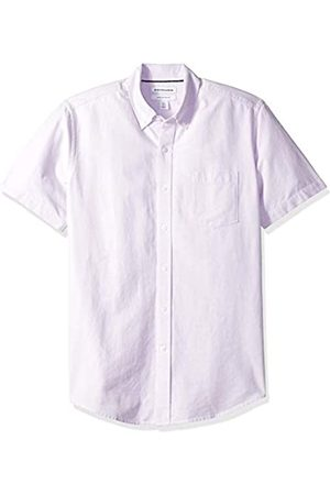Amazon Regular-Fit Short-Sleeve Solid Pocket Oxford Camicia, , US L
