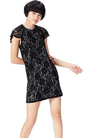 FIND Marchio Amazon - Vestito Mini A-Line in Pizzo Donna, , 46, Label: L