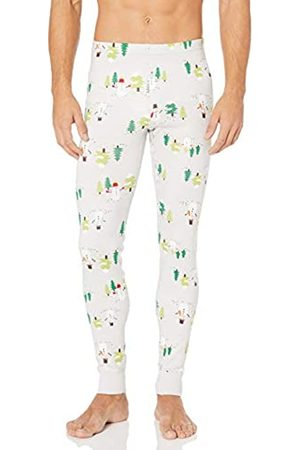 Moon and Back Standard Pajama Pant Sets, Stampa con Pupazzo di Neve, Large