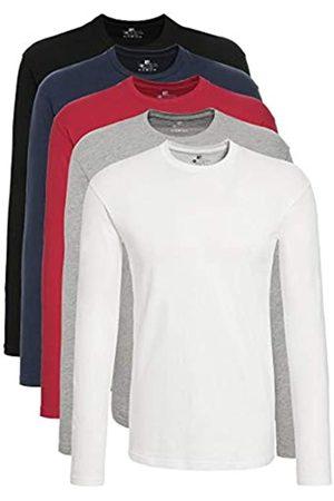 Lower East T-Shirt a Maniche Lunghe Uomo, Pacco da 5, Mehrfarbig , L