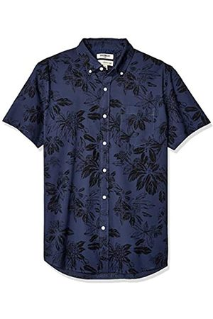 Goodthreads Standard-Fit Short-Sleeve Printed Shirt Button-Down-Shirts, Navy Large Floral, US M