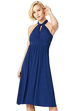 TRUTH & FABLE Marchio Amazon - Vestito Midi Halter Donna, , 48, Label: XL