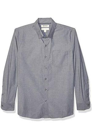 Goodthreads Marchio Amazon - , camicia da uomo, a maniche lunghe, popeline elasticizzato e comodo, facile da lavare, Standard Fit, carbone, US S