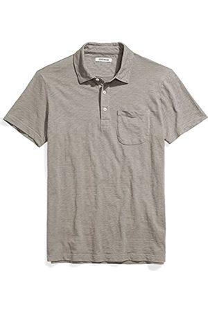 Goodthreads Marchio Amazon - Short-Sleeve Slub Polo, Castle Rock/Grey, XL