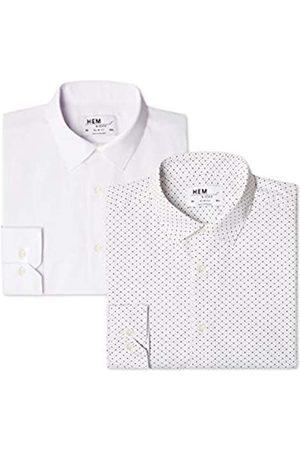 FIND 2 Pack Slim Shirt, Camicia formale Uomo, , 37 cm, Label: XS