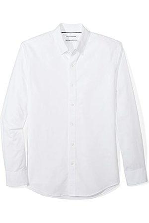 Amazon Essentials Slim-fit Long-sleeve Solid Oxford Shirt, Uomo, , X-Small
