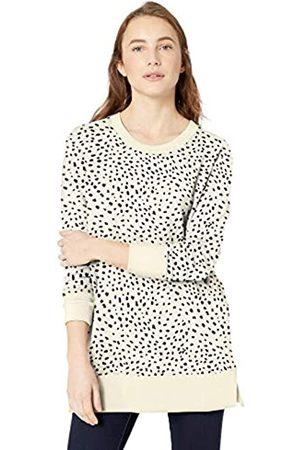 Daily Ritual Spugna di Cotone e Modal Ventilazione Laterale Tunica Shirts, Stampa Dalmata Color Crema/ , US M