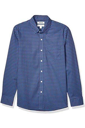 Goodthreads Marchio Amazon - , camicia da uomo, a maniche lunghe, popeline elasticizzato e comodo, facile da lavare, Standard Fit, Blue Purple Gingham, US S