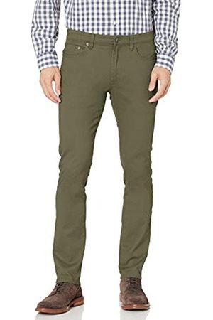 Amazon Essentials Skinny-Fit 5-Pocket Stretch Twill Pant Pantaloni Casual, Olive, 29W / 32L