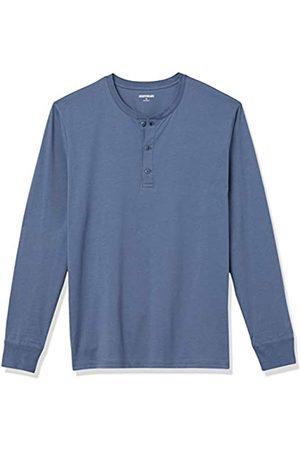 Goodthreads Cotone a Maniche Lunghe Henley Shirts, Denim, US S