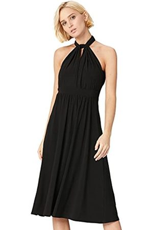 TRUTH & FABLE Marchio Amazon - Vestito Midi Halter Donna, , 40, Label: XS