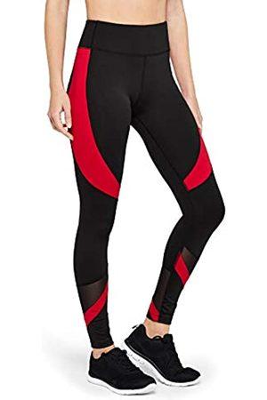 AURIQUE Marchio Amazon - Leggings Sportivi a Vita Alta Colour Block Donna, , 46, Label:L