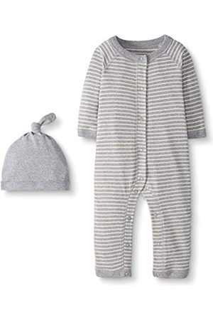 Moon and Back by Hanna Andersson Snap Front One Piece Coverall with cap Set Infant-And-Toddler-Layette-Sets, mélange, 3-6 Months